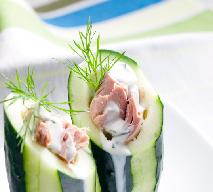 Ogórki faszerowane pastą z tuńczyka