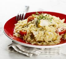 Przepis na risotto makaronowe z kurczakiem i warzywami