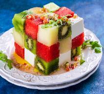 Kostka rubika - efektowna sałatka z fetą i arbuzem